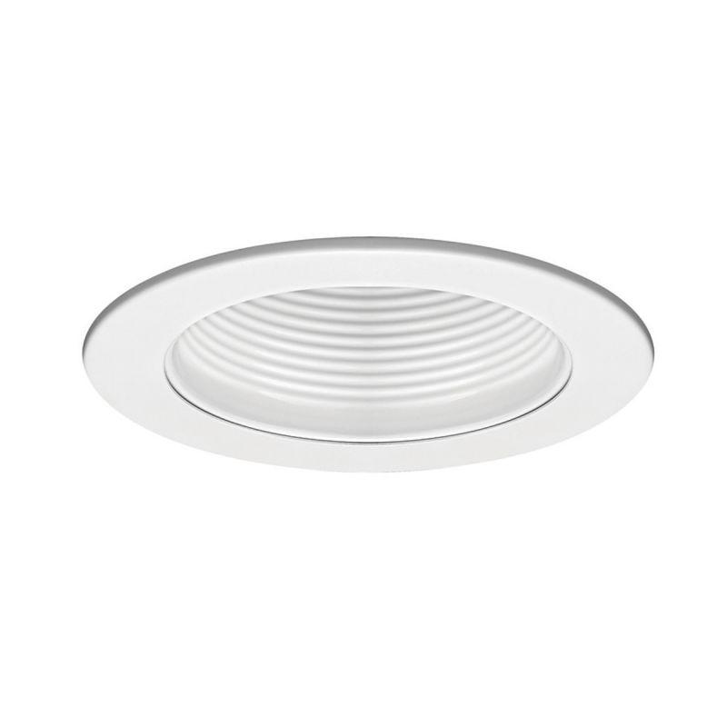 "WAC Lighting R-420 4"" Line Voltage Recessed Light Baffle Trim White /"