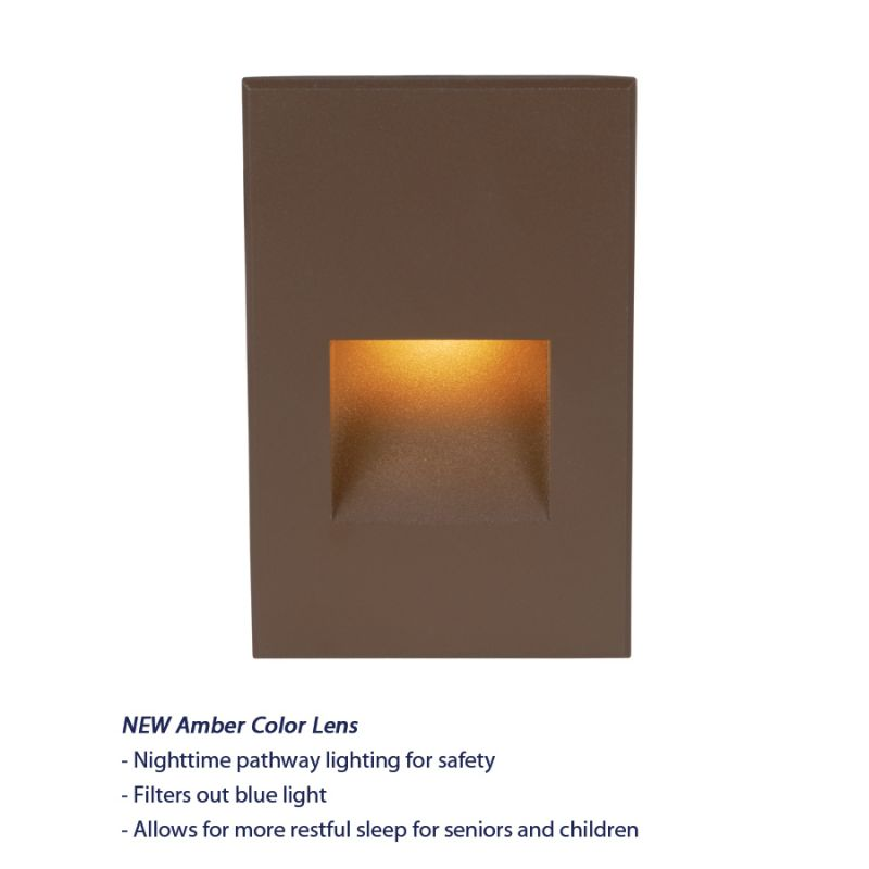 WAC Lighting WL-LED200-AM Rectangular Line Voltage LED Step Light with Sale $116.50 ITEM#: 2277219 MODEL# :WL-LED200-AM-BZ UPC#: 790576224886 Features: Up to 200 fixtures can be connected in parallel Balanced lighting, free of shadows with minimum glare Die-cast aluminum construction Wet location rated to IP66 standards for indoor and outdoor installations Low profile, flush to wall aesthetics with no visible hardware May be dimmed with electronic low voltage (ELV) dimmer Lamping Technology: LED - Light Emitting Diode: Highly efficient diodes produce little heat and have an extremely long lifespan. Specifications: Number of Bulbs: 1 Bulb Type: LED Watts Per Bulb: 3.9 Wattage: 3.9 Voltage: 120 Average Hours: 40000 Color Rendering Index (CRI): 83 Lumens: 17 Energy Star: No UL Listed: Yes UL Rating: Wet Location Compliance: UL Listed - Indicates whether a product meets standards and compliance guidelines set by Underwriters Laboratories. This listing determines what types of rooms or environments a product can be used in safely. ETL Listed - Indicates whether a product meets standards and compliance guidelines set by Nationally Recognized Testing Laboratory(NRTL). This listing determines what types of rooms or environments a product can be used in safely. About WAC Lighting: WAC Lighting takes a leadership approach within the industry in manufacturing, product development and social responsibility and continues to build their technological and research core competencies to develop a robust product assortment that is supported by a first-class team, distinguishing our company from the competition as a true leader in Solid State Lighting. :