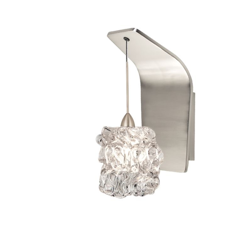 WAC Lighting WS72-G544 Candy Ribbon Glass Shade Halogen Wall Sconce Sale $249.50 ITEM#: 2439551 MODEL# :WS72-G544CL/BN UPC#: 790576317526 :