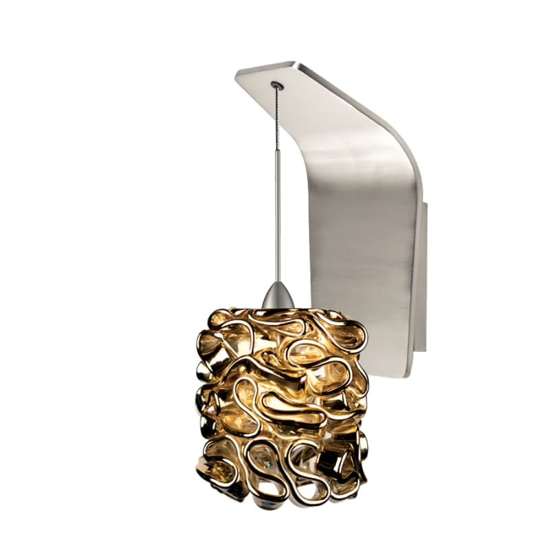 WAC Lighting WS72-G544 Candy Ribbon Glass Shade Halogen Wall Sconce Sale $249.50 ITEM#: 2439554 MODEL# :WS72-G544GL/BN UPC#: 790576317496 :