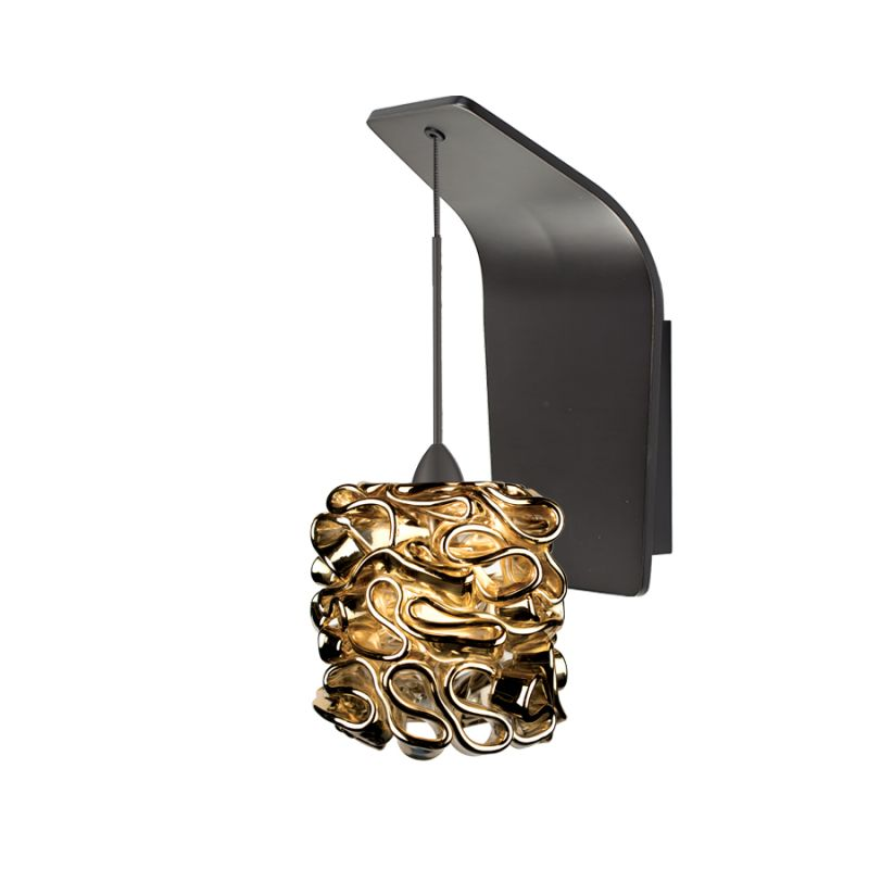 WAC Lighting WS72-G544 Candy Ribbon Glass Shade Halogen Wall Sconce Sale $249.50 ITEM#: 2439556 MODEL# :WS72-G544GL/RB UPC#: 790576317472 :