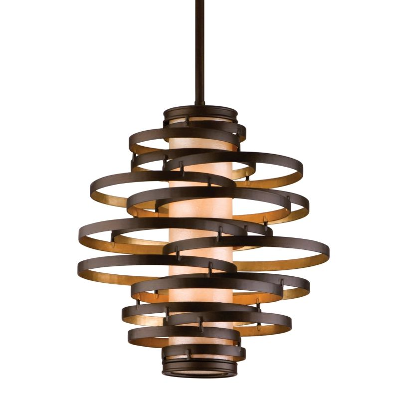113 42 In Bronze Gold Leaf By Corbett Lighting