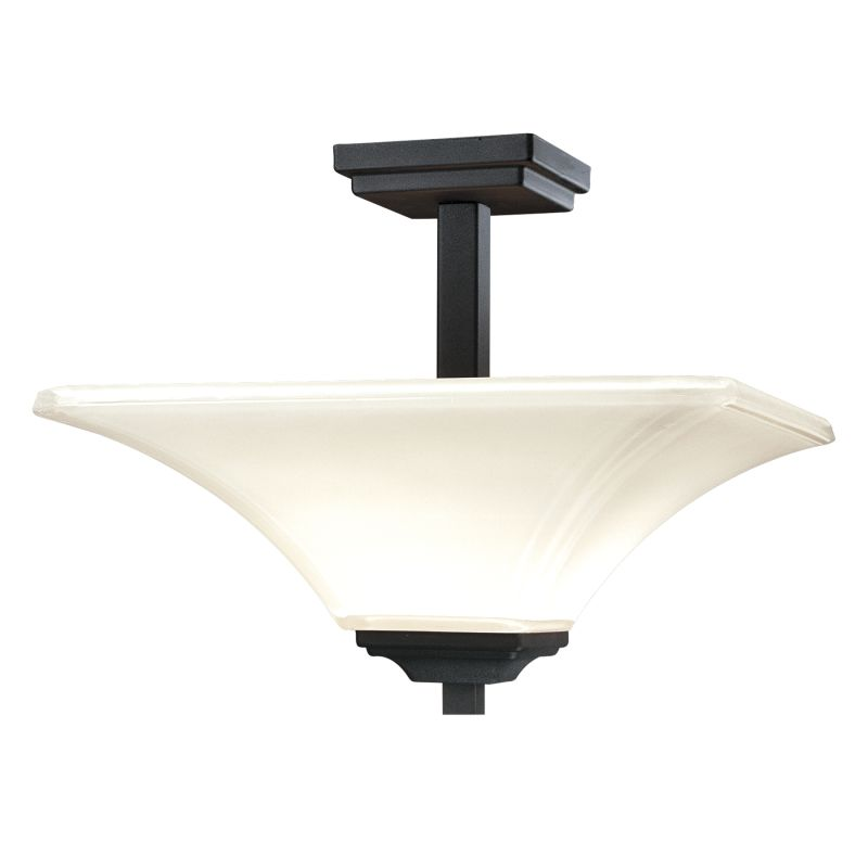 minka lavery 1816 66 black 2 light semi flush ceiling fixture from the