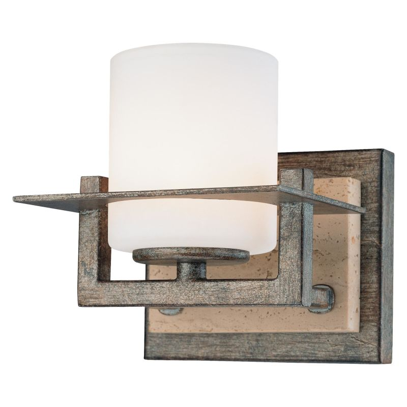 6461 273 In Aged Patina Iron With Travertine Stone By Minka Lavery