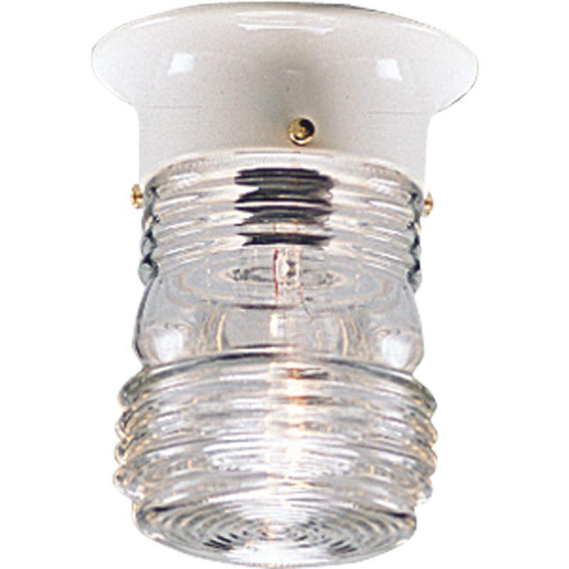 jelly jar light fixture single light ceiling mount jelly. Black Bedroom Furniture Sets. Home Design Ideas
