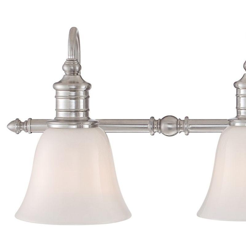 36 Vanity Light Brushed Nickel : LightingShowPlace.com BGT8604BN in Brushed Nickel by Quoizel