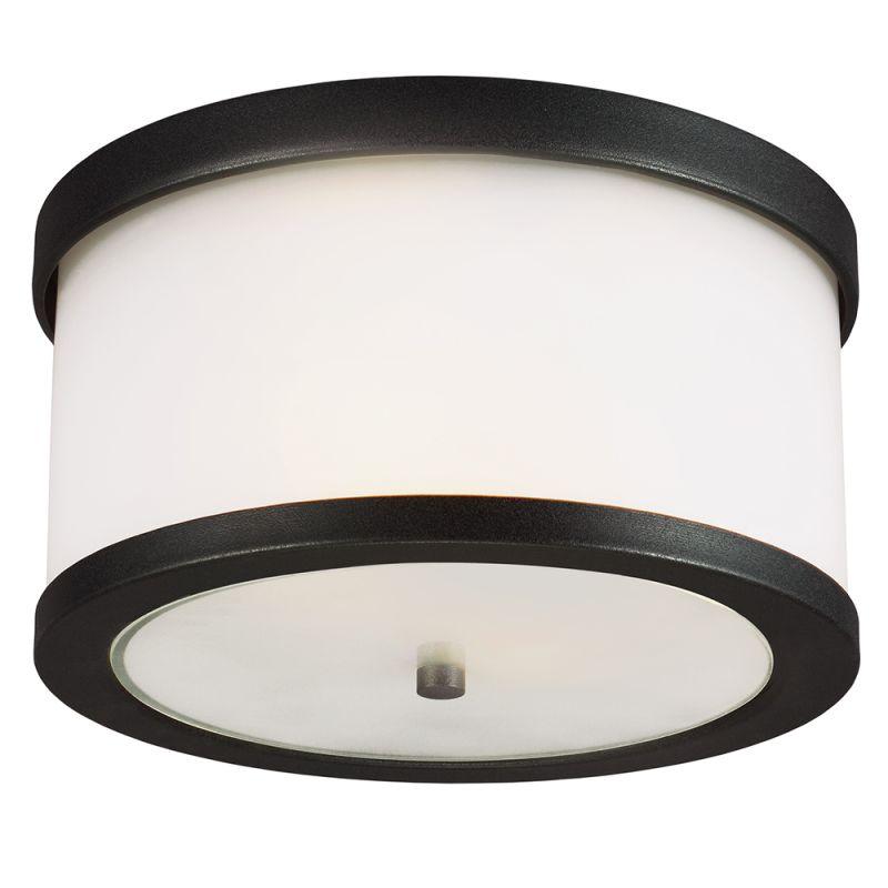 sea gull lighting 7822402ble 12 black bucktown 2 light outdoor flush. Black Bedroom Furniture Sets. Home Design Ideas