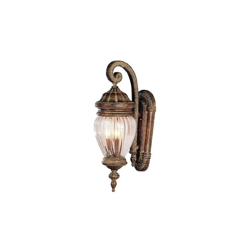 Outdoor Wall Light Replacement Glass: 4440 AG In Antique Gold By Trans