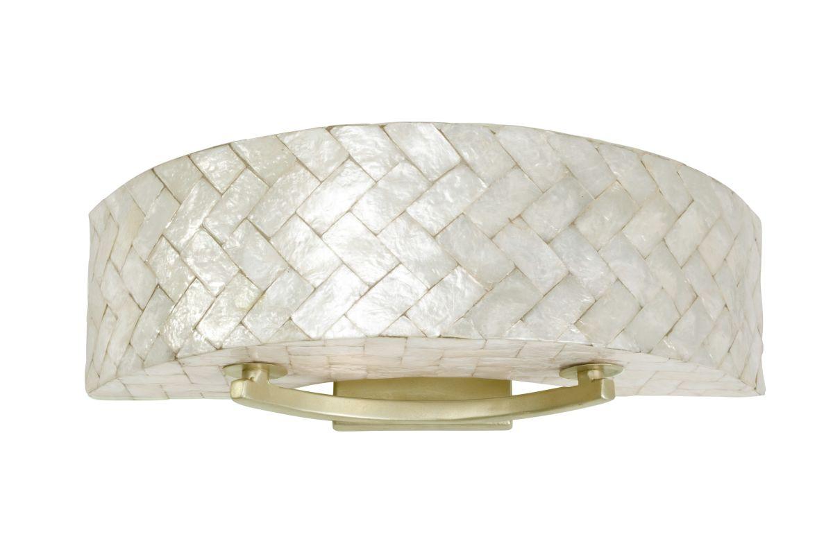 capiz shell 2 light 23 wide sustainable shell radius bath fixture. Black Bedroom Furniture Sets. Home Design Ideas