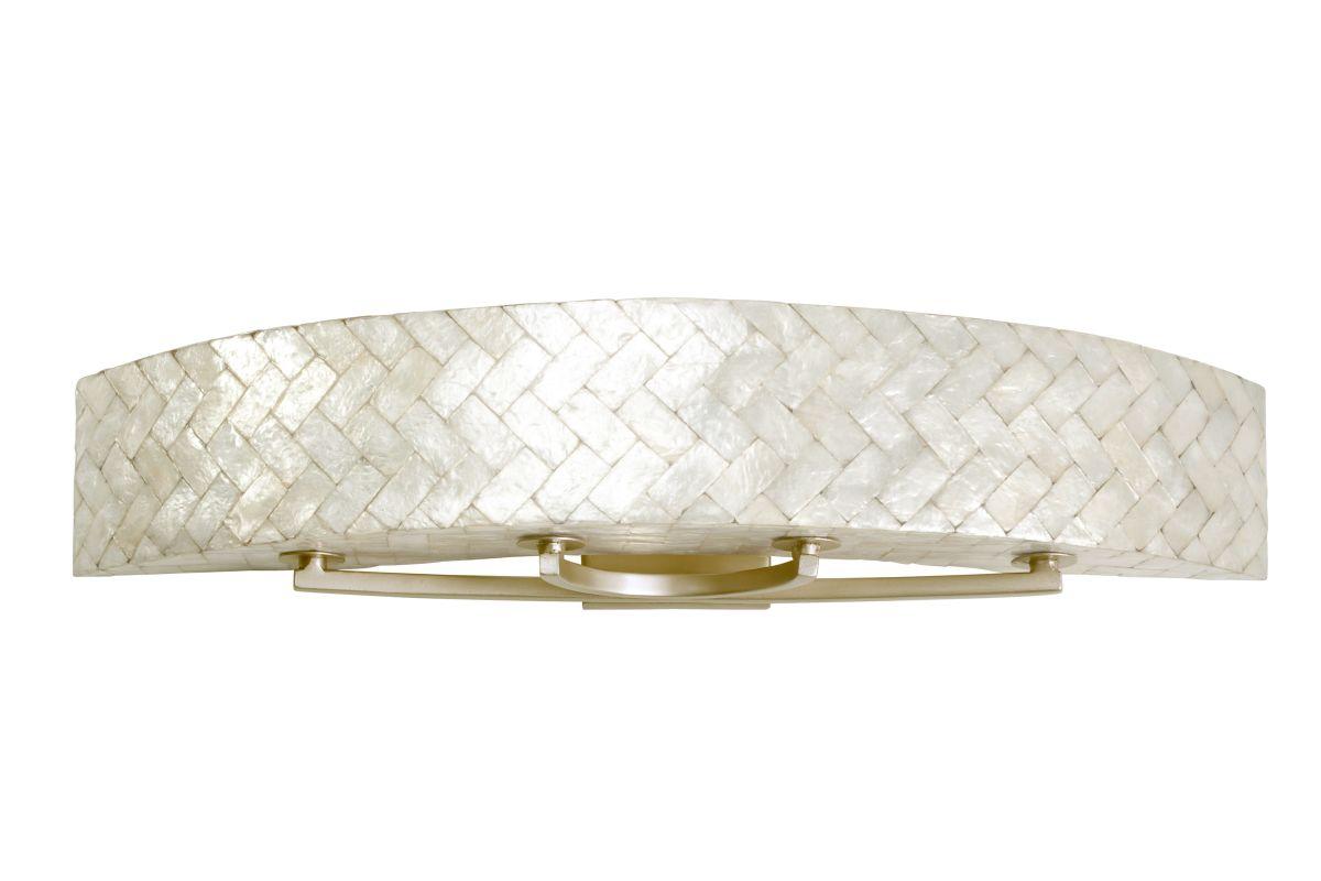 capiz shell 4 light 36 wide sustainable shell radius bath fixture. Black Bedroom Furniture Sets. Home Design Ideas