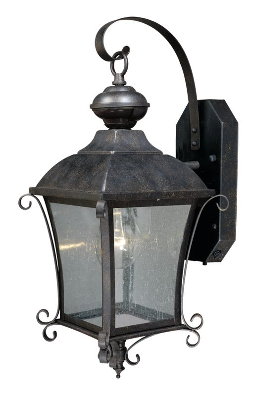 gold stone sonnet 1 light dualux outdoor wall sconce with photocell. Black Bedroom Furniture Sets. Home Design Ideas