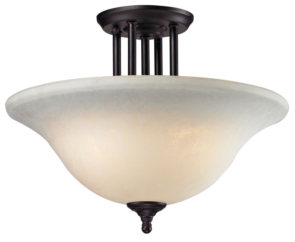 lite 2116sf bronze athena 3 light semi flush ceiling fixture with