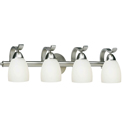 Forte Lighting 5045-04 Contemporary / Modern 4 Light 26 Inch Wide Bathroom Fixture from the Bath Collection