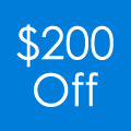 Save $200 when you spend $1000 or more. Plus FREE SHIPPING!